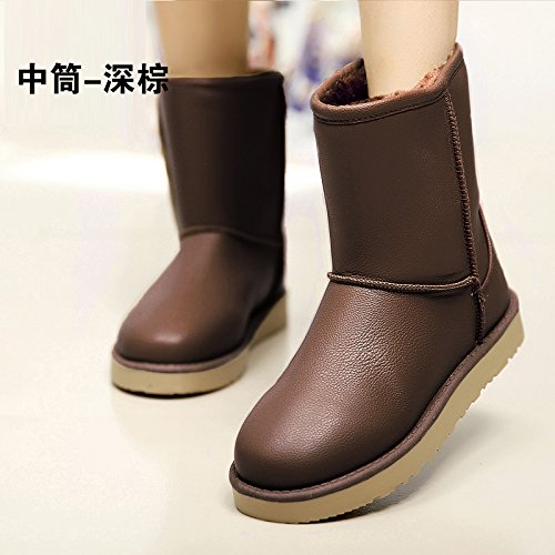 FLYRCX L'inverno con Snow Boots caldo cashmere antiscivolo in pelle impermeabile scarpe Ms. E