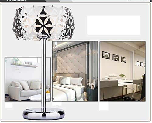 wysm Room Bed vetro decorativo lampada da tavolo fari Principessa Camera comodino Lampada in vetro acciaio inox creativo matrimonio Lampada da tavolo