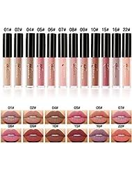 Matt Nude Lipgloss Set ,Valuemakers Lippenstifte Liquid Matte Lipstick Dauerrhaft Lip Liner Make up 12 Stück