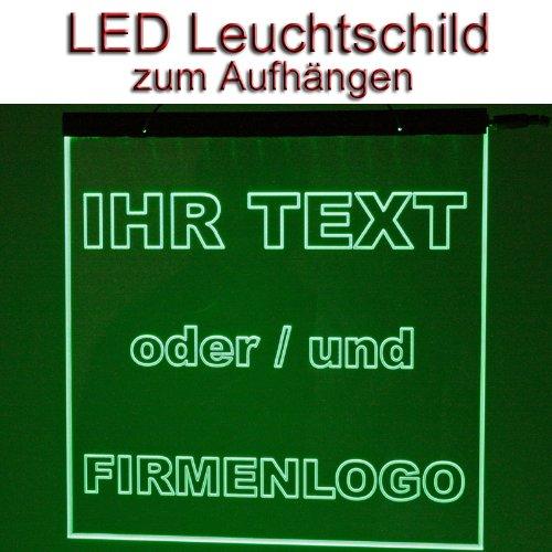 LED Leuchtschild Werbeschild 25x25cm -IHR MOTIV- Wandbild