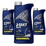 MANNOL 3 x 1 Liter 2-Takt Plus API TC JASO FD Motorradöl
