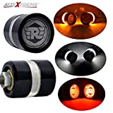 #7: AllExtreme Universal Motorcycle Bar End LED Turn Signals Strobe Running Lights Side Maker Indicator Warning Blinker for 7/8