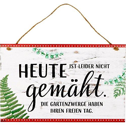 Spiegelburg 14847 Gartenschild 'Heute nicht gemäht' I love my Garden