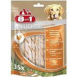 8in1 Delights Chicken Twisted Sticks, gesunder Kausnack für Hunde, 35 Stück (190g)