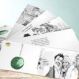 Weihnachtskarten Witzig, Rote Weihnachtskugel 200 Karten, Kartenfächer 210x80 inkl. weiße Umschläge, Grün