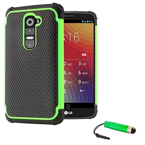 32nd Shockproof Series - Schutz Stoßdämpfung hülle vor Stürzen und Stößen für LG G2, Case Cover mit Stoßdämpfenden Kern - Grün (Lg G2 Phone Case)