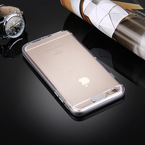 iPhone Case Cover Pour iPhone 6 & 6s Diapositive Slice Design Plastique amovible Flamme Transparent TPU Housse de protection avec appel entrant Flash LED clignotant ( Color : Purple ) Grey