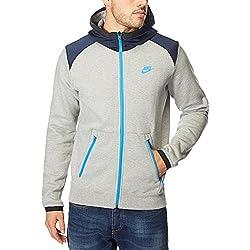 Chaqueta De Forro Polar Impermeable Nike Color Gris/Azul Tamaño Medium