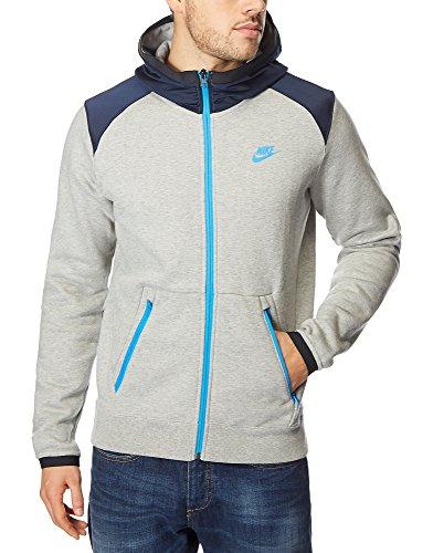 Nike Hybrid Trainingsanzug Fleece Kauzentop - Grau/Blau, X-Large