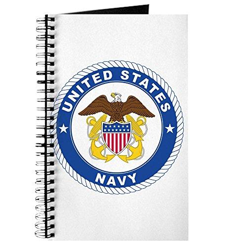 CafePress - United States Navy Emblem - Spiralgebundenes Tagebuch, persönliches Tagebuch, Punktraster