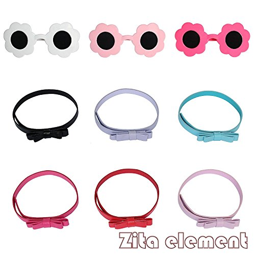 6PCS Puppe Zubehör-3x SUNGLASS + 3x BELTS für 18 Zoll American Girl Doll 45-46cm Götz Puppen, My Life Doll, Our Generation and other 18 inch Dolls XMAS (Little Kostüm Cosplay Sister)