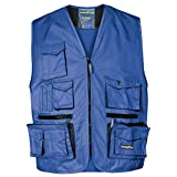 Goodyear 61203 Gilet Multitasche, 65% Poliestere 35% Cotone Royal