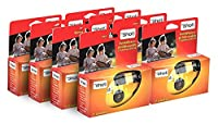 TopShot 400 Disposable Cameras with Built-in Flash (Pack of 8 Camera 27 Pictures)