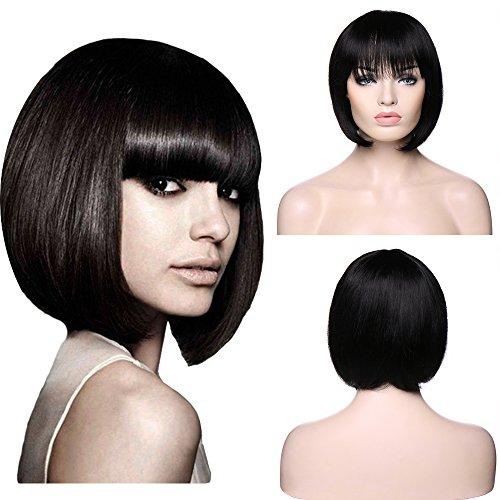 Parrucca capelli umani naturali brasiliani lisci a bob - wig human hair da donna 110g - 10