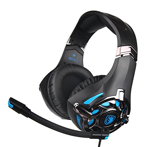 Sades Xbox One Headset G822 Gaming Headset, 3,5 mm Wired Noise Isolation Bass Over-Ear Kopfhörer mit Mikrofon für PS4 Xbox One PC MAC iPad iPod Laptop Computer Smart Phones Superior-digital-headset