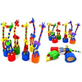 Clode Kids Intelligence Toy Dancing Stand Colorful Rocking Giraffe Wooden Toy