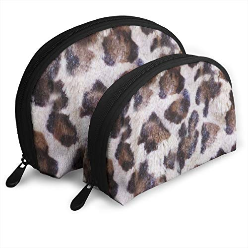 Luxe Leopard 2pcs/pack Toiletry bag Travel Carry On Airport Travel Shell Makeup Storage Bag Toiletry Organizer For Women - Luxe Leopard