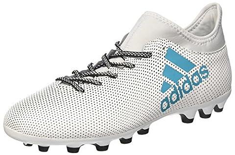 Adidas Herren X 17.3 Ag Fußballschuhe, Mehrfarbig (Ftwr White/Energy Blue S17/Clear Grey S12), 42 2/3 EU