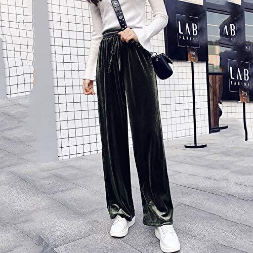 KTKZSS Weite Hose Getting Pants High-Waist Fashion Long-Leg Pants L grau -