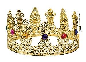 Corona de reina con piedras preciosas de imitación para adultos