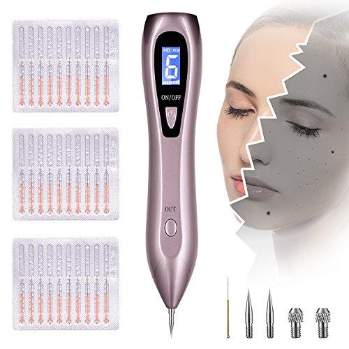Muttermal Entfernen, Warzen Entferen Maulwurf Entfernen Professioneller Schönheits-Stift, mit 9 Stärke Stufen Sicher FDA für Muttermale, Warzen, Tattoo, Altersflecken auf Gesicht, Hand und Körper