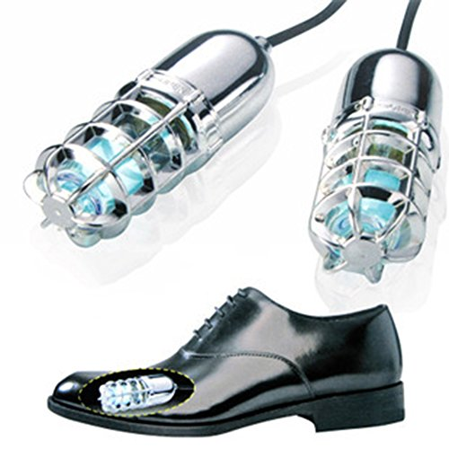 Ultraviolet (UV) Shoe Sanitizers / Deodorizer / Boot Sterilizer / Kills Toenail Fungus (Silver) Test
