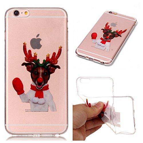 Cover iPhone 6 Plus iPhone 6sPlus, Sportfun morbido protettiva TPU Custodia Case in silicone per iPhone 6Plus iPhone 6sPlus Natale (04) 01