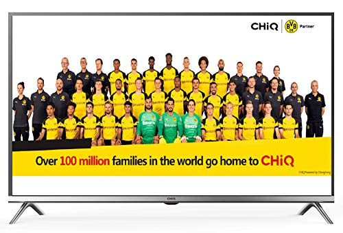 CHiQ 80cm (32 Zoll)  L32D5T Full HD LED Fernseher, Triple Tuner, HDMI, USB, CI+, H.265, Dolby Plus, Hotelmode, metallisches Grau [Energieklasse A+]