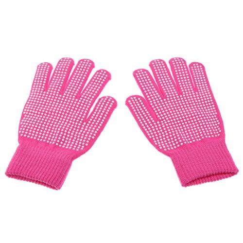Preisvergleich Produktbild Homyl Sport Handschuhe Fahrrad Handschuhe Trainingshandschuhe,  Rutschfest - Rose Rot,  Freie Größe