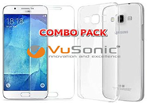 VuSonic™ COMBO OFFER ~ 0.33mm, Shatter-Proof, Flexible Tempered Glass + Soft Silicon Transparent Back Cover For Samsung Galaxy J7 2016