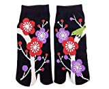 Chaussettes tabi 'Nihon Teien' japonais Split 2-toe Ninja Flip Flop Sandales Geta Senior Socquettes