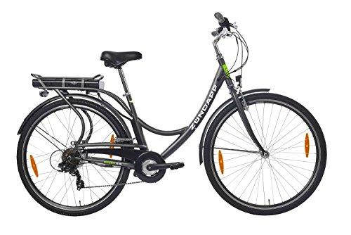ZÜNDAPP E-Bike Damen Elektrofahrrad Citybike, mit 7-Gang Shimano Kettenschaltung, 250W und 10,4 Ah, 36V Lithium-Ionen-Akku, Green 2.5