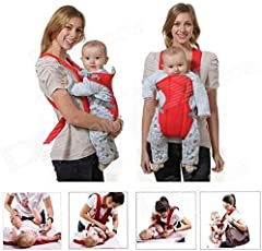 Chinmay Kids Baby Carrier 1 Pc Adjustable 4-in-1 with Comfortable Head Support & Buckle Straps (Red)