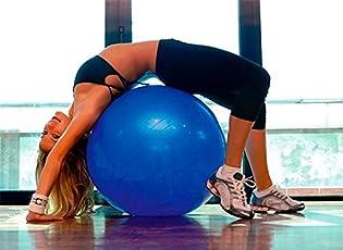 Flyngo 75cm Gym Yoga Exercise Ball with Foot Air Pump