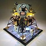 Yavso Set di Luci per (NASA Apollo 11 Lunar Lander) Modello - Kit Luce LED Lighting Compatibile con Lego 10266( Lego Set Non Incluso)