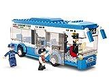 Funstones - Bausteine BAU Steine City Bus Town Fahrzeug + Mänchen Figuren Fahrer