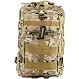 25-30L Mochila Militar Táctica Molle para Acampada Camping Senderismo Deporte Backpack de Asalto Patrulla para Hombre Mujer Camuflaje Caqui