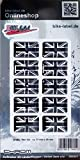 Bike Label 300541N Autocollant 3D Drapeau Union Jack Angleterre Chrome 31 x 20 mm