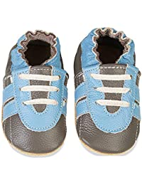 Baby Shoes Soft Leather Baby Boys First Walking Shoes Girls Toddler Shoes Suede Soles 0-6 Months to 1-2 Years Infant