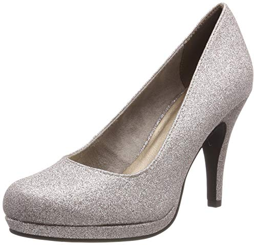 Tamaris Damen 1-1-22407-22 Pumps, Silber (Space Glam 960), 38 EU