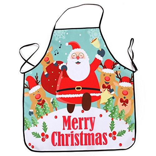 Lqchl 1Pcs 70*80Cm Décoration De Noël Tablier Imperméable En Polyester Pour Le Dîner De Noël Cuisine Tablier Partie Décoration D,I