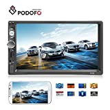 "Podofo Car Stereo Bluetooth Audio Double Din Car Radio GPS 7"" LCD Touch"