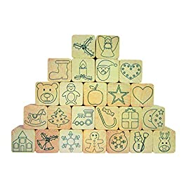 Eduplay 220103 – Holz-Stempelset Adventskalender, 24-er Set / Eduplay 220.103 – Legno Stamp Set Advent Calendar, Set di 24