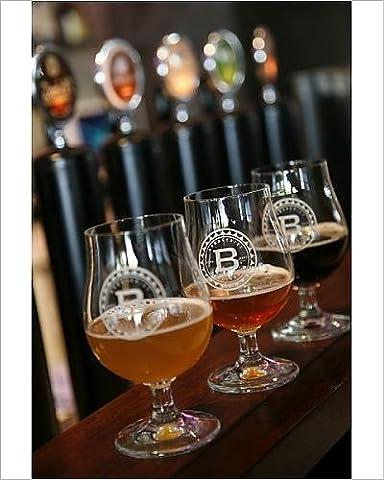 Photographic Print of Beer glasses at the Broggeriet brewery in Sonderborg, Jutland, Denmark