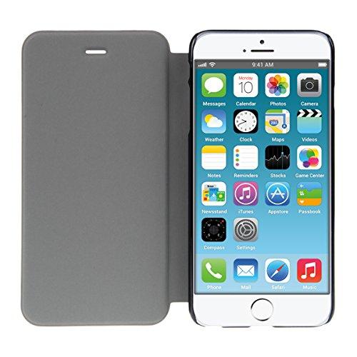 kwmobile Flip Case Hülle für Apple iPhone 6 / 6S - Aufklappbare Schutzhülle Tasche im Flip Cover Style in Grün Koralle