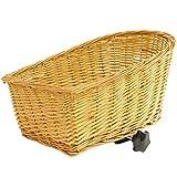 PedalPro - Cestino in vimini lato posteriore - per portapacchi bicicletta