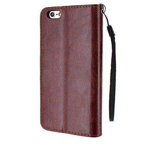 Flip-Case APPLE IPHONE 6 / 6S [CroCoChic Premium] [Lagunenblau] von MUZZANO + STIFT und MICROFASERTUCH MUZZANO® GRATIS - Das ULTIMATIVE, ELEGANTE UND LANGLEBIGE Schutz-Case für Ihr APPLE IPHONE 6 / 6S Braun