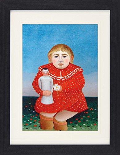 1art1 113556 Henri Rousseau - Mädchen mit Puppe, 1905 Gerahmtes Poster Für Fans und Sammler 40 x 30 cm (1905 Poster)