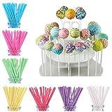 [7 Farben ,70 Stück] Cake Pop Sticks ,Wiederverwendbare Stiele für Cake Pops...