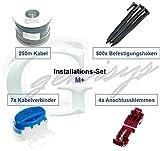 Installationsset M+ Worx Landroid S/M/L Kabel Haken Verbinder Installation Paket